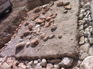 Cimientos con piedra seca.